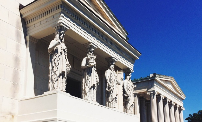 Eight Caryatid Figures at the Albright Knox art gallery.