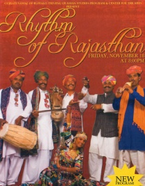 Post from the Center for the Arts' Rhythm of Rajasthan program.
