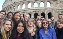 Classics students at the Colosseum.