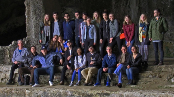 Classics students in Sperlonga.