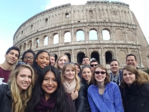Classics students at the Colosseum