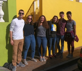 Students in Cape Town, South Africa on a Study Abroad trip.