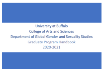 Cover of the GGSs graduate student handbook.