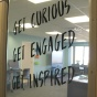 Door of the ELC reading: Get Curious, Get Engaged, Get Inspired.