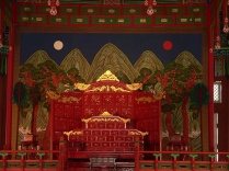 The Phoenix Throne of the king of Joseon in Gyeongbokgung