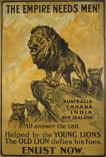 The Empire Needs Men, Arthur Wardle WWI recruiting poster
