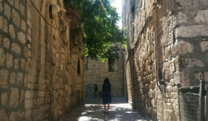 Jewish Quarter in Old City Jerusalem.