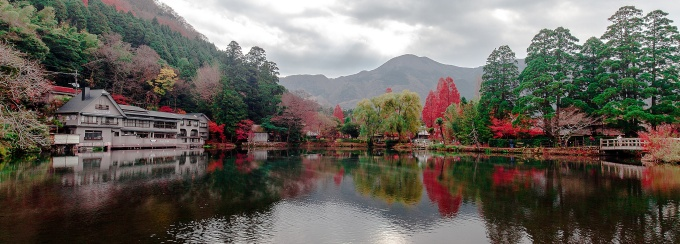 Japanese Lake and Trees.