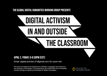 "Public workshop event | ""Digital Activism in and outside the Classroom""."