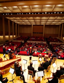 A concert in Slee Hall