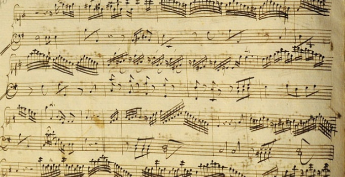- The image above shows a music sheet from the past.