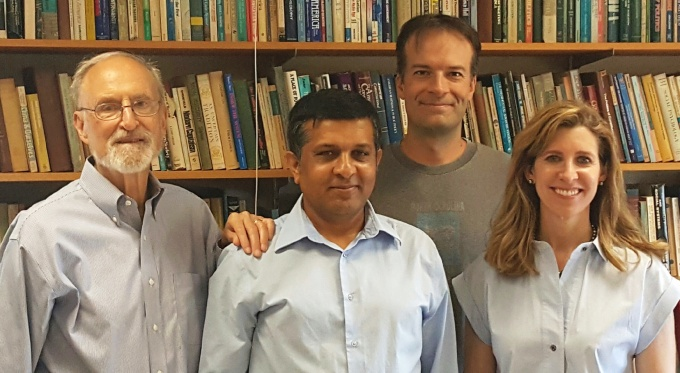 PhD student Bhattarai with defense committee.