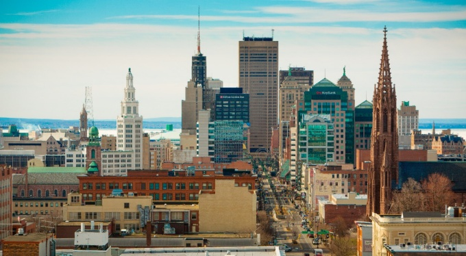 View of Downtown Buffalo.