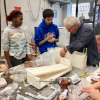 students plaster casting, a part of 3D foundations