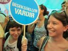 "Sign: ""Bisexuals Exist, ""Pride March, Istanbul 2013"