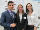 Psychology students David Khaydatov, Carly Connor and Mariangela Perrella, UB Celebration of Academic Excellence