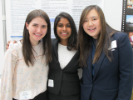 Psychology students Kristin Tymchak, Hemapriya Navaindran and Maria Ng, UB Celebration of Academic Excellence