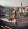 Brianna Perdomo at the Parc Güell, Barcelona, Spain