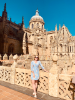 Summer 2019 study abroad student Aisling Cantillon on a tour of the Torre Catedral de Salamanca- the main cathedral that claims everyone's attention!