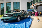 The car smash is always a popular event. Photo: Meredith Forrest Kulwicki