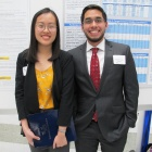 Alejandro Espinosa with fellow psychology student Phuong Le (left)