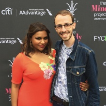 Jacob Schupbach with Mindy Kaling.