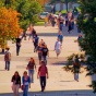 Students walking on campus.