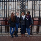Nataliya Karpov with other students in London.