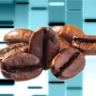 Coffee beans superimposed of genome sequencing.
