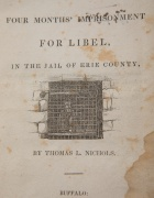 Book cover depicting man inside jail cell.