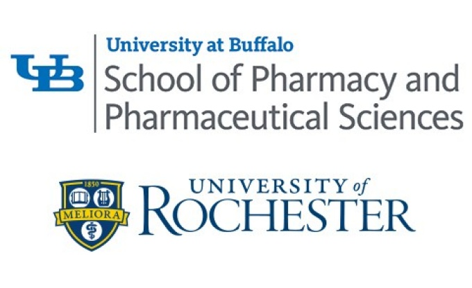 University at Buffalo School of Pharmacy and Pharmaceutical Sciences and the University of Rochester logos.