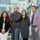 UB-affiliated winners and honorable mention recipients of National Science Foundation Graduate Research Fellowships are (from left) Destiny Diaz, Ty Santiago, Hailie Suk and Anthony Taboni.