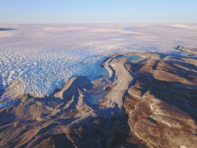 The Greenland Ice Sheet, viewed from above.