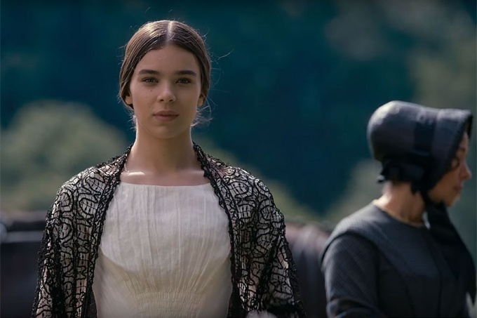 "Hailee Steinfeld as Emily Dickinson in the Apple TV series, ""Dickinson.""."