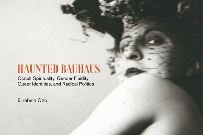 "Detail of the cover art for ""Haunted Bauhaus: Occult Spirituality, Gender Fluidity, Queer Identities, and Radical Politics,"" by Libby Otto."